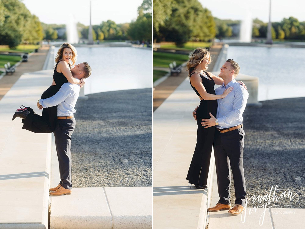 hermann park engagement photography