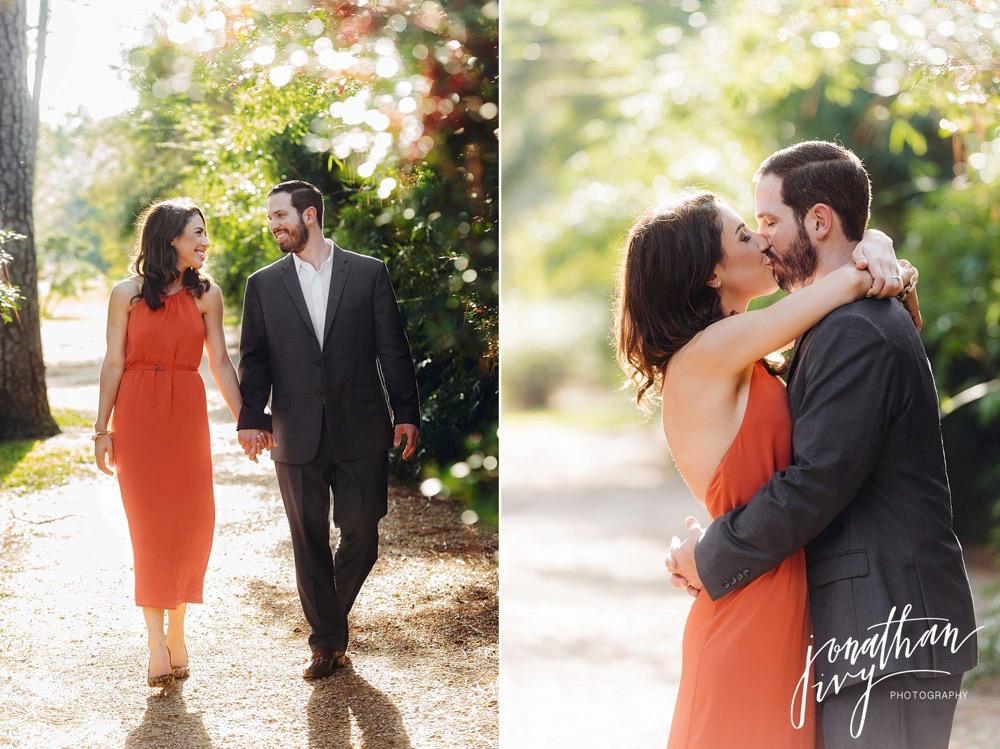romantic engagement photographer in houston