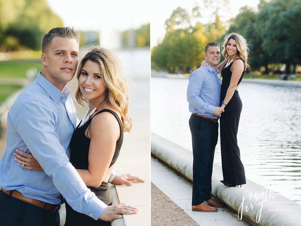 sexy hermann park engagement photos