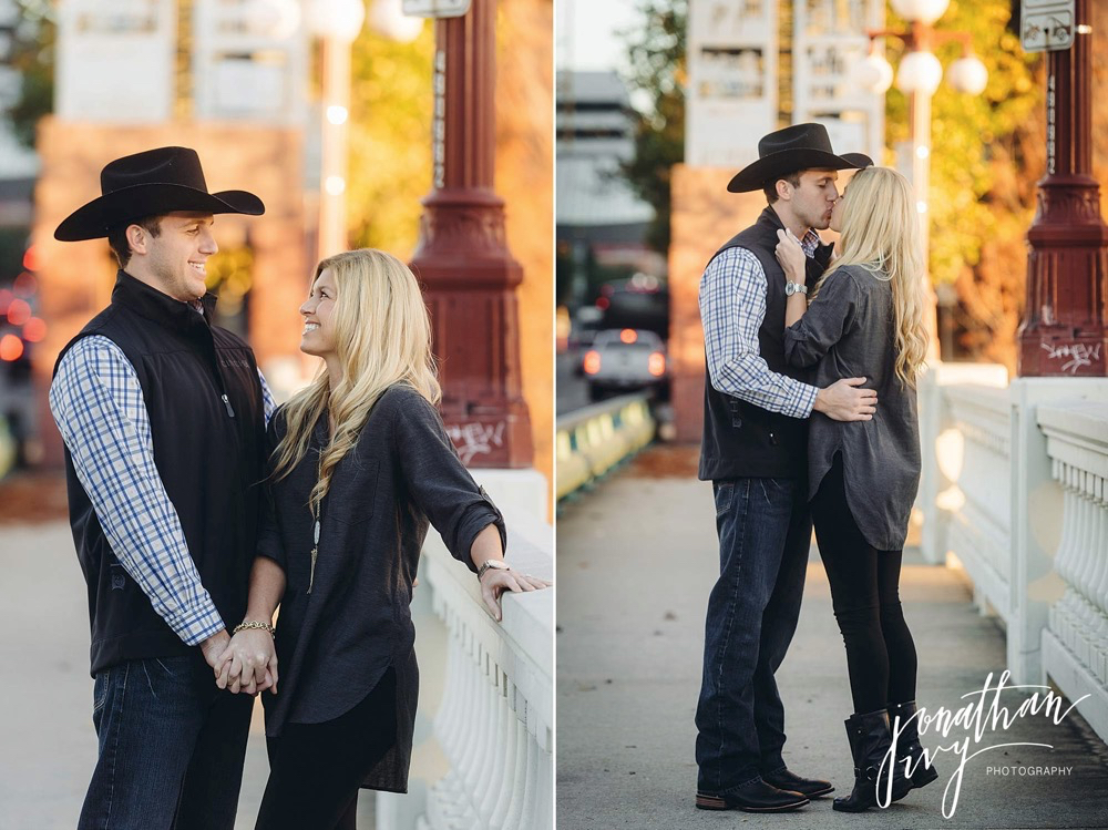 country engagement photos in the city