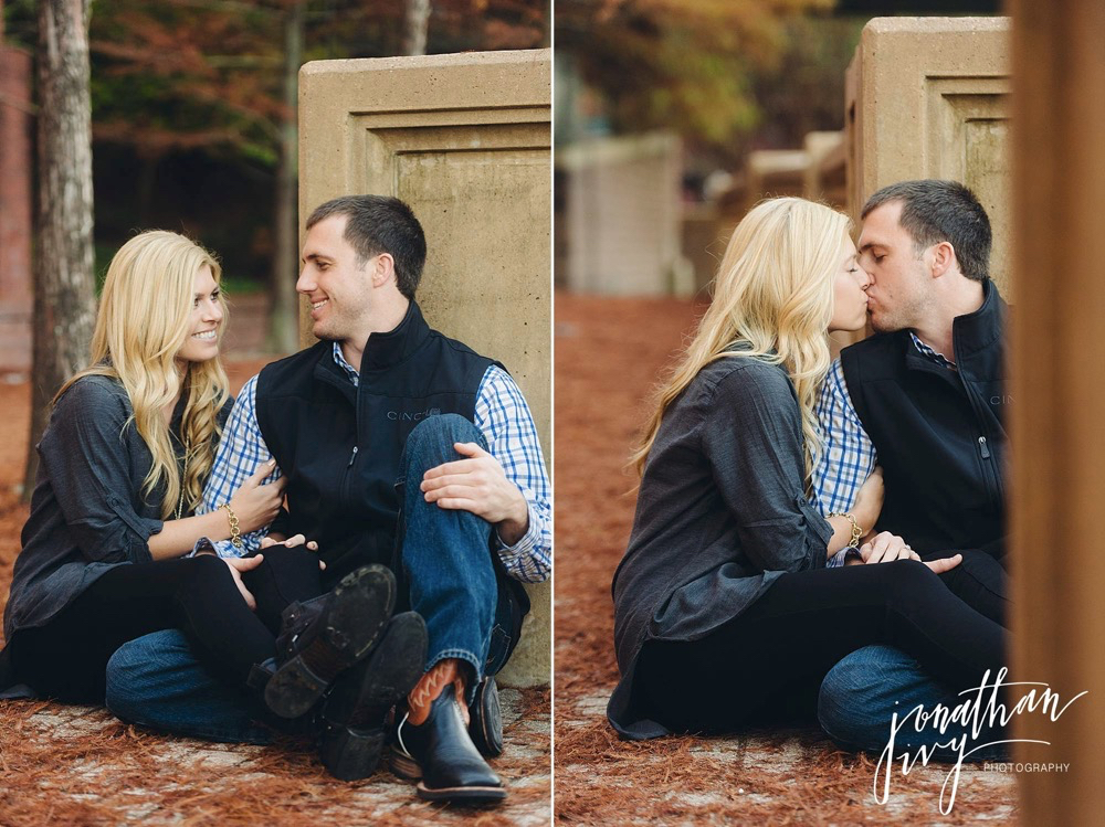 romantic engagement photos in Houston