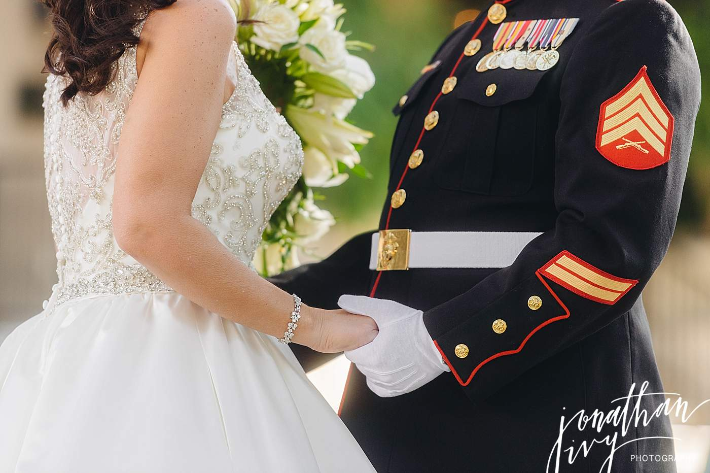 Marine Dress Blues Wedding Atire