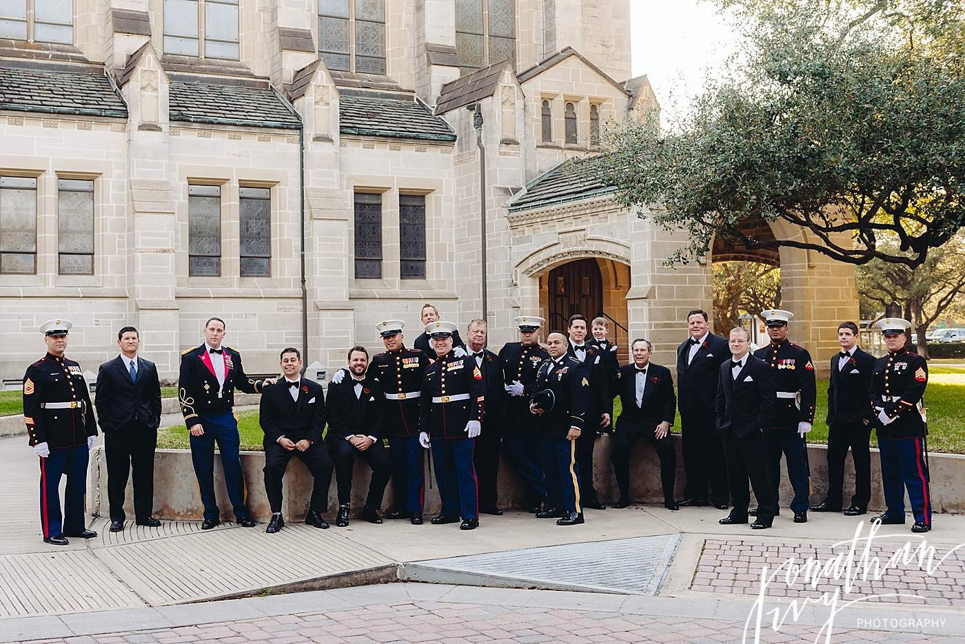 Marines at a wedding