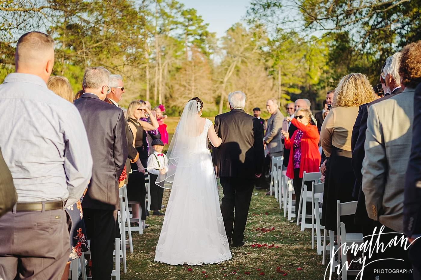 Outdoor Wedding the woodlands