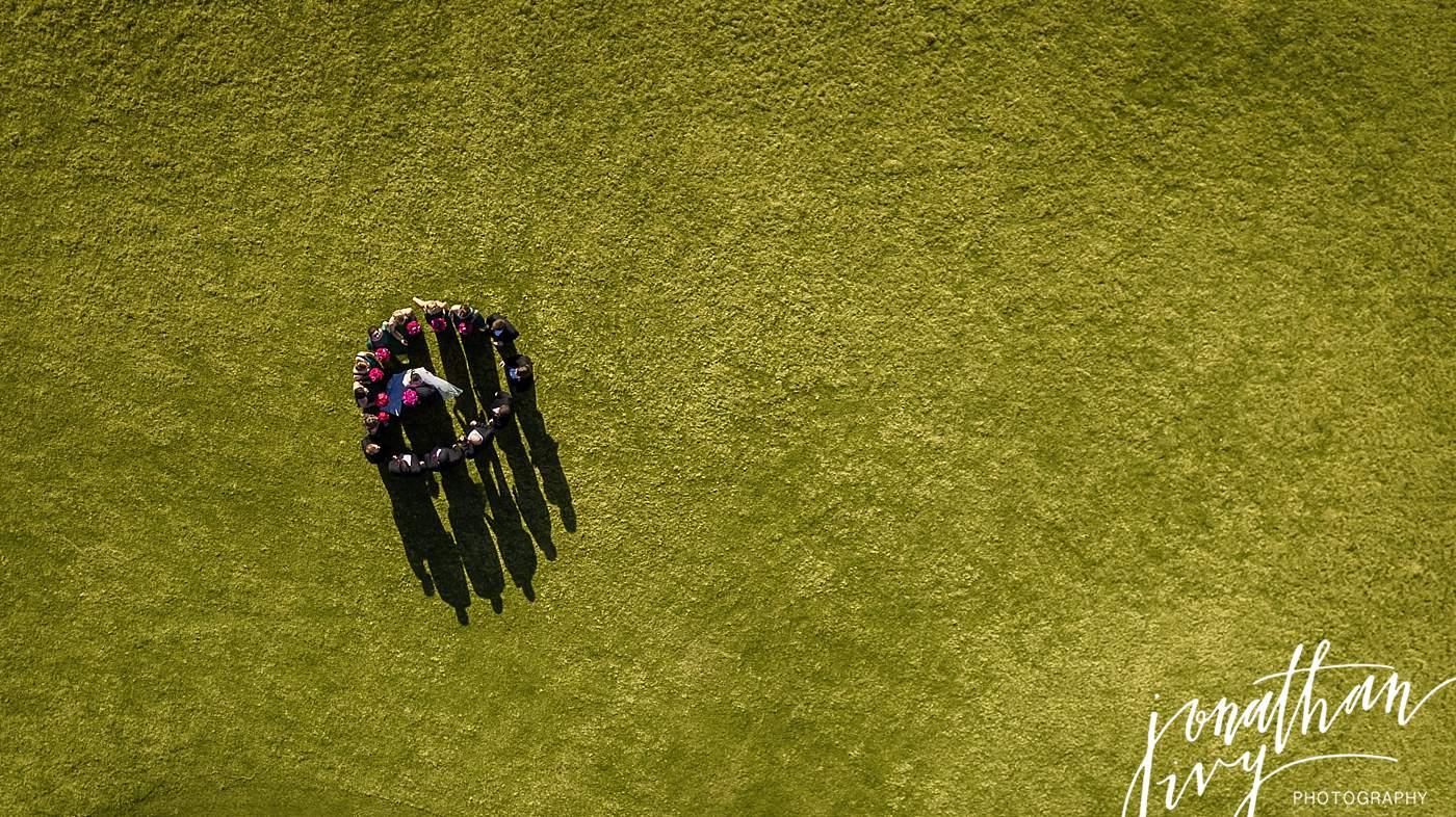 aerial wedding photography