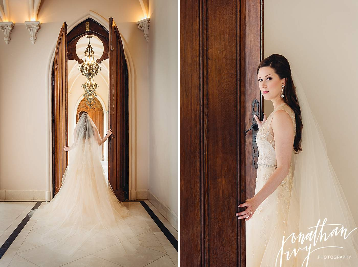 Inside locations for bridal photos