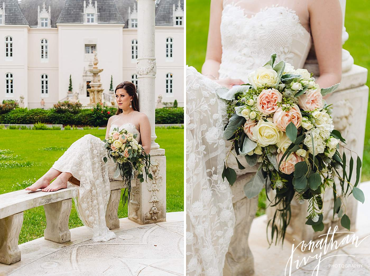 bridal portraits at chateau cocomar