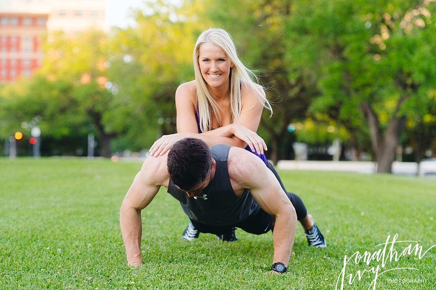 Fitness Engagement Shoot in Houston