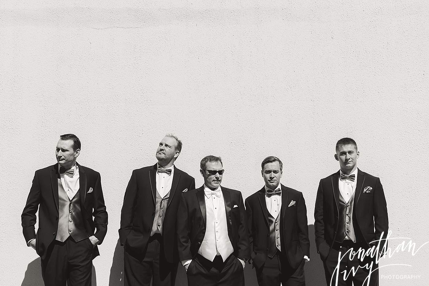 black and white groomsmen photo
