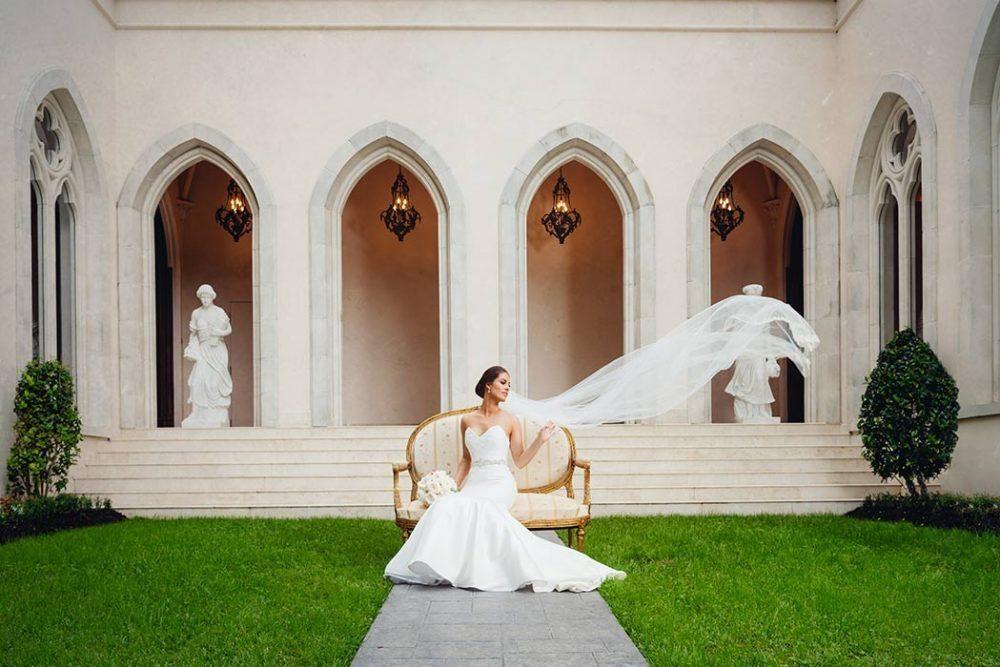 Chateau Cocomar Bridal Portraits