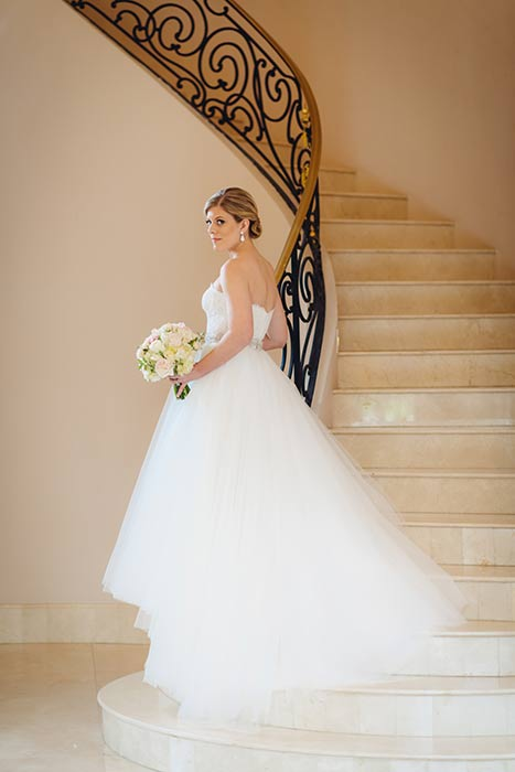 Chateau Cocomar Staircase Bridal
