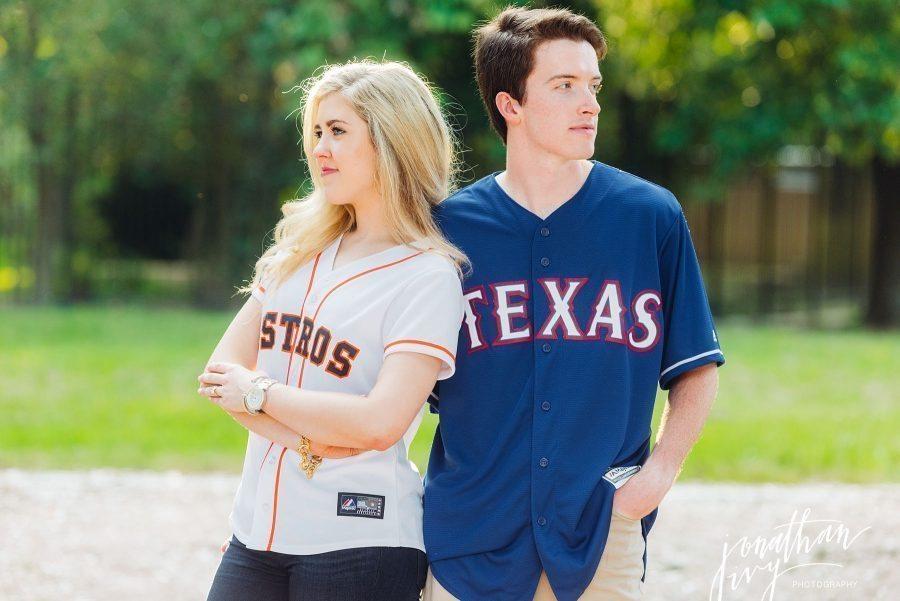 Astros Vs Rangers Engagement Photos