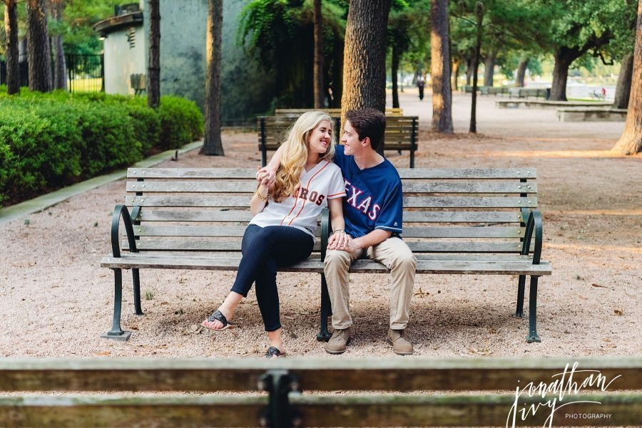 Sports Themed Engagement Photos