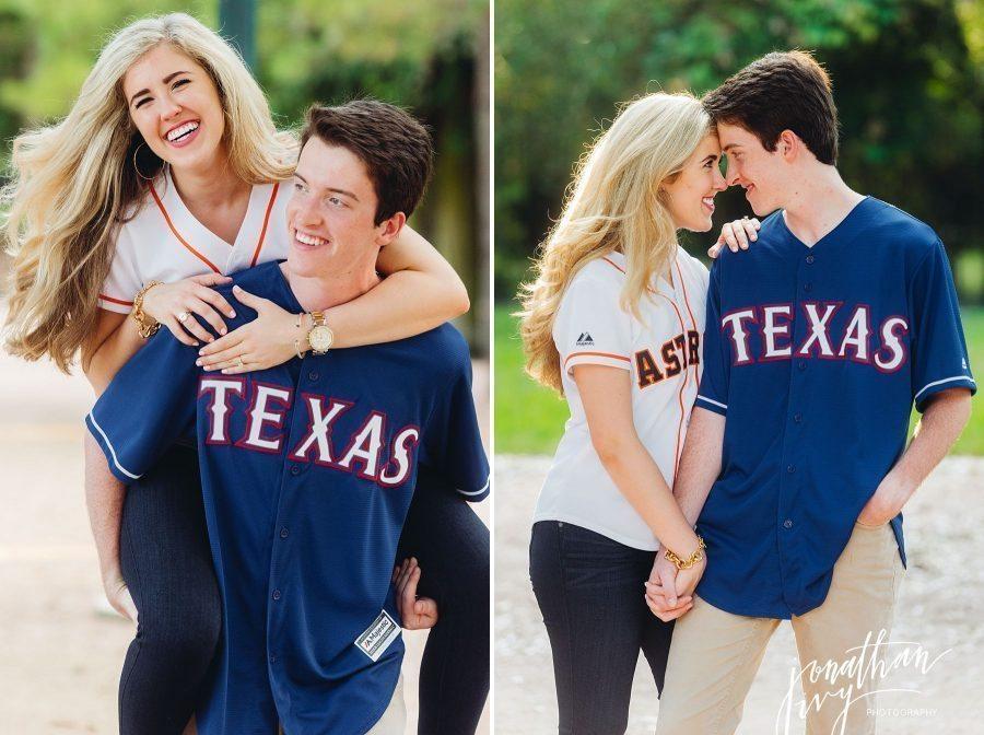 Astros Rangers Engagement Photos