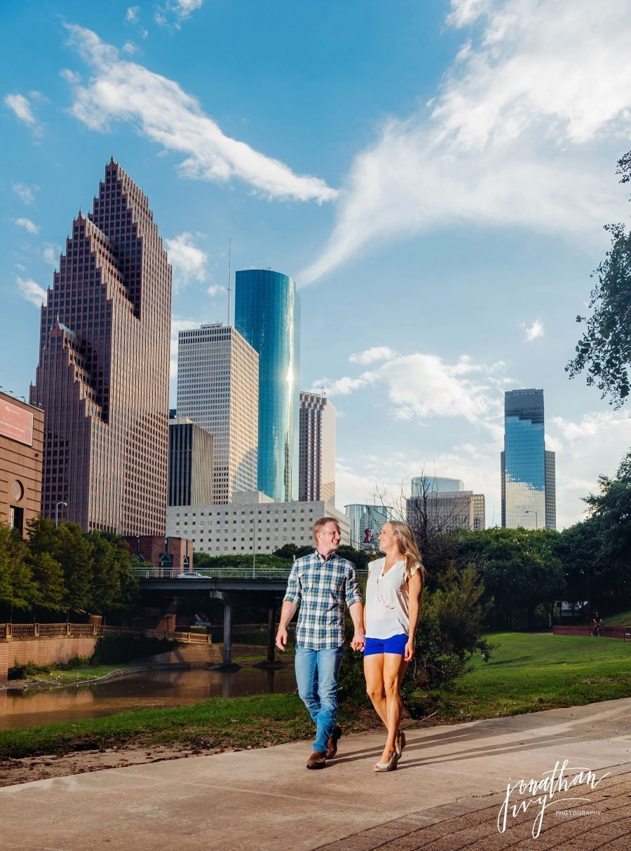 Houston Skyline engagement photos