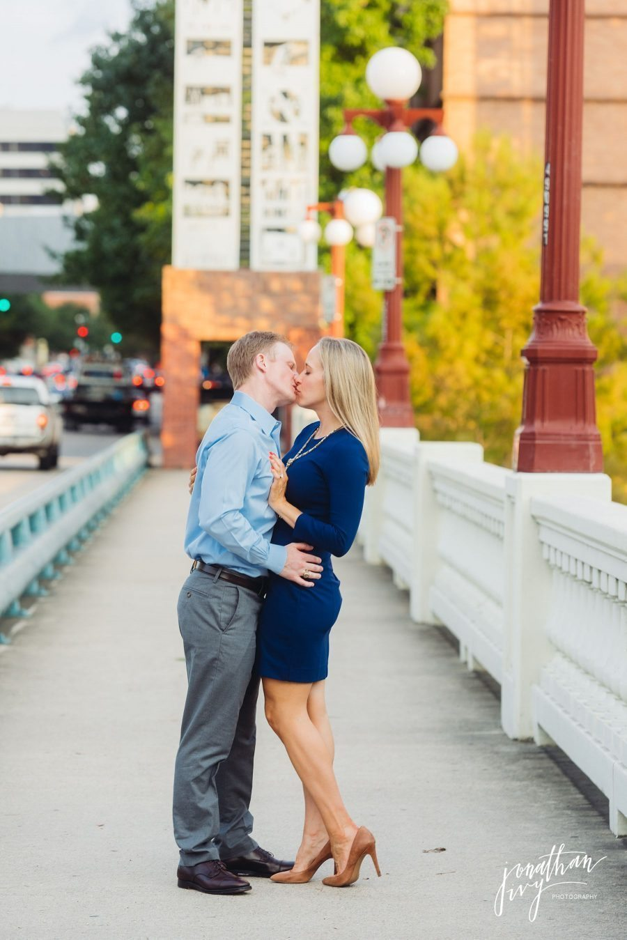 city chic downtown houston engagement photos