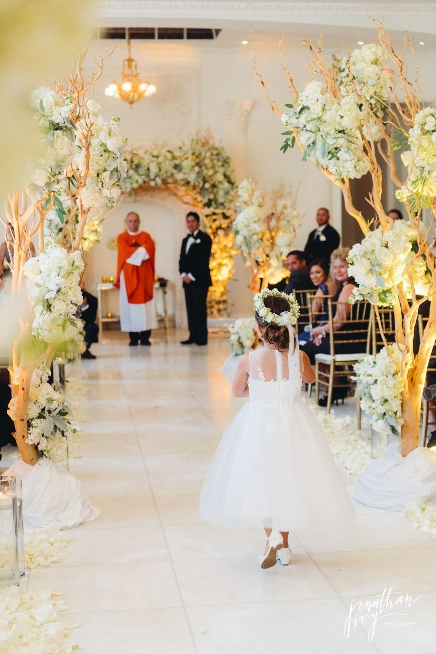 Chateau Cocomar Wedding Ceremony Plants and Petals