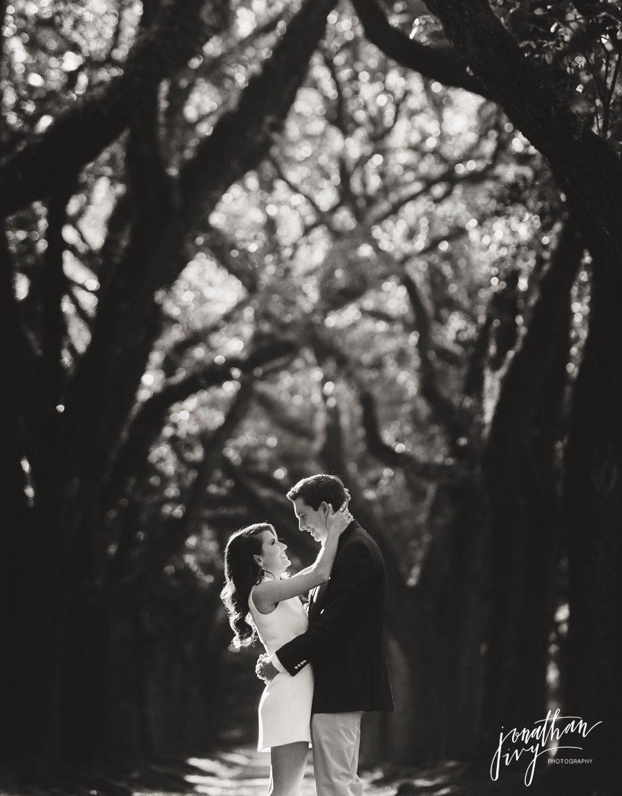 Houston Tree Canopy Engagement Photos