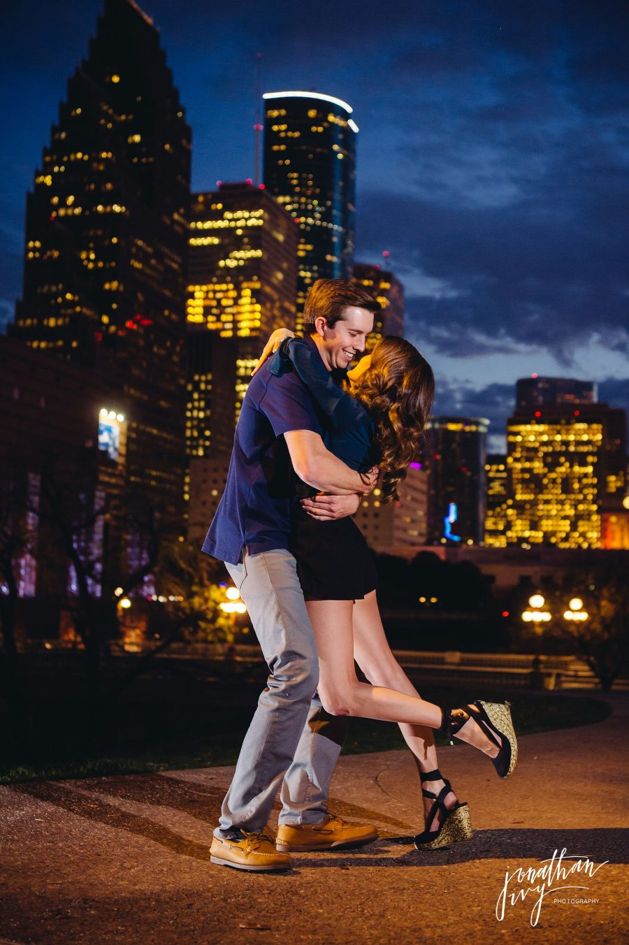 Downtown Houston Engagement Photographer