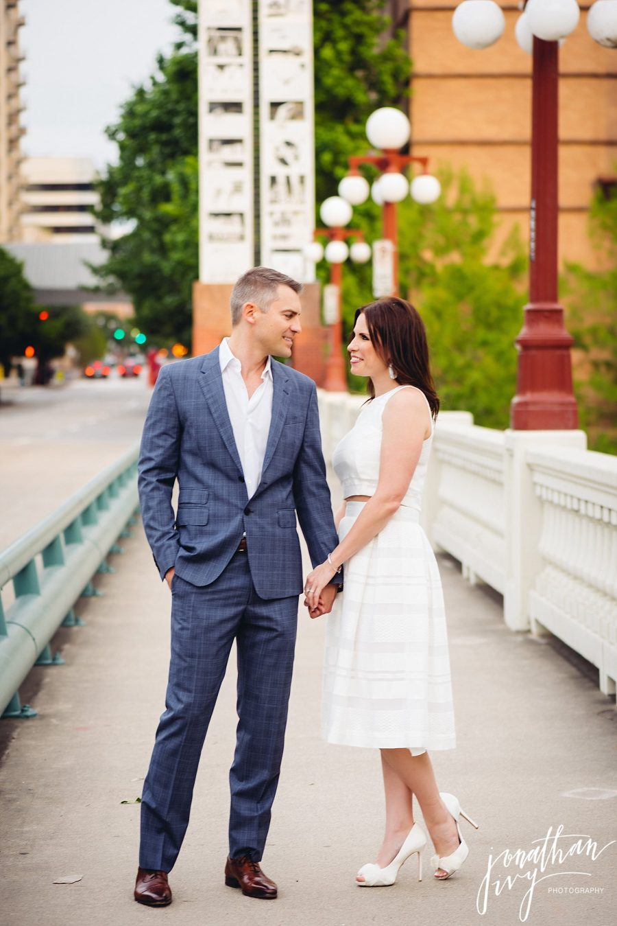 Downtown Houston Engagement Portraits