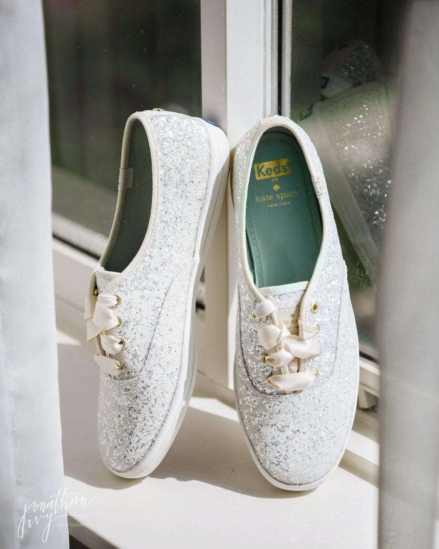 Kate Spade Sparkle Glitter Bridal Shoes Bride
