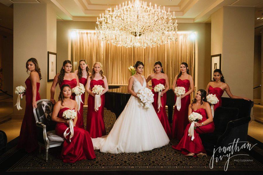 Bridesmaids Photos at Hotel Zaza Houston