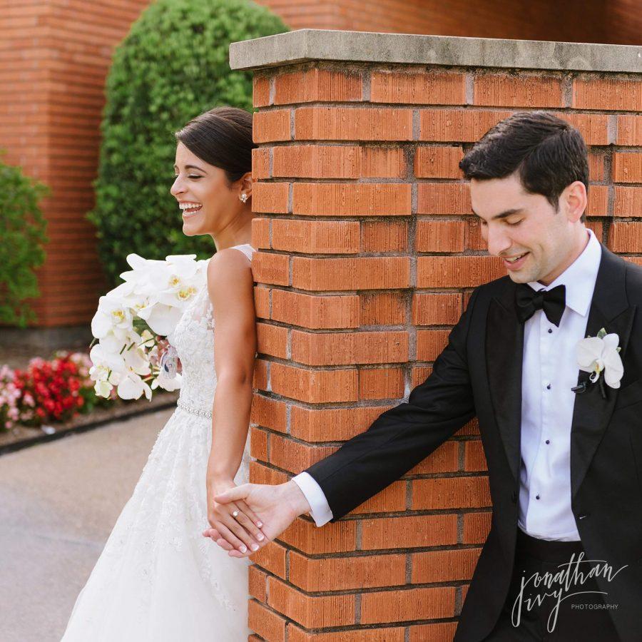 First Look St Vincent De Paul Houston Wedding