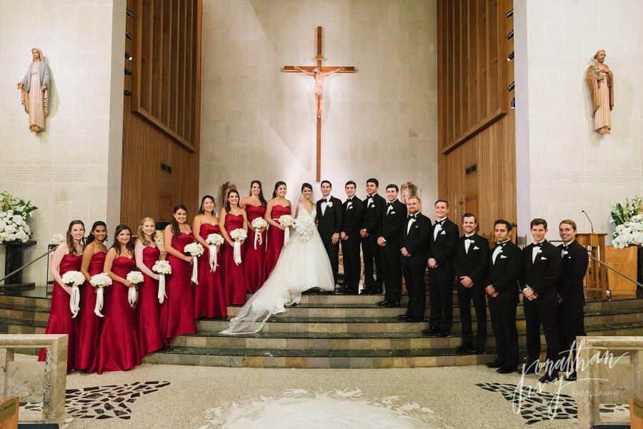 Wedding at St Vincent De Paul Houston