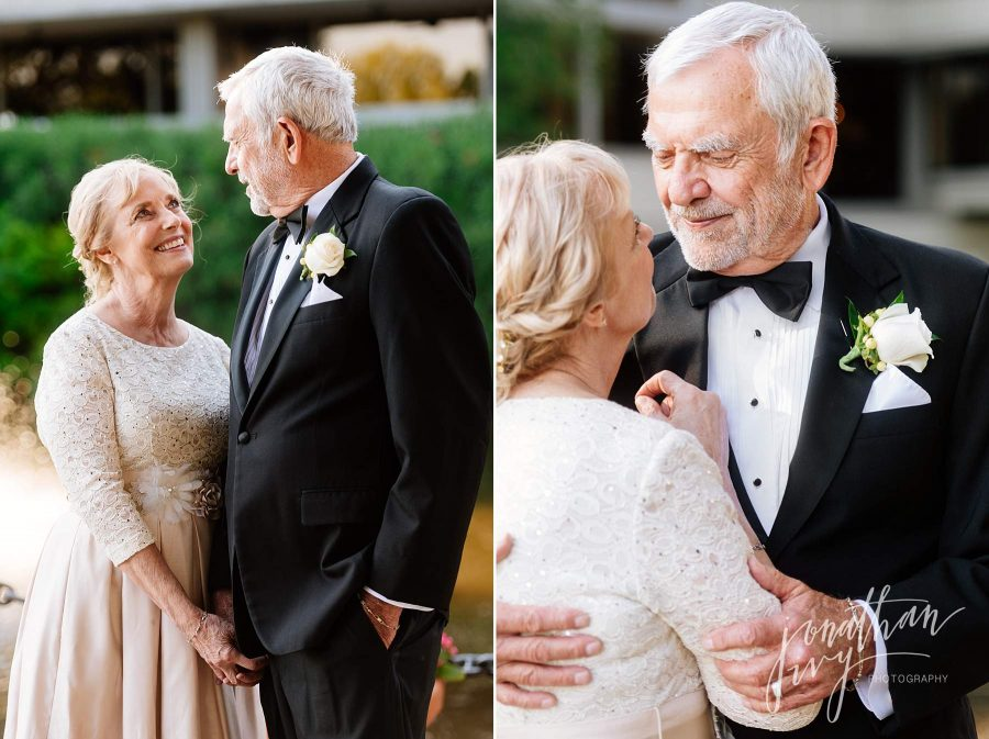 Older Couple Wedding Ceremony Photos
