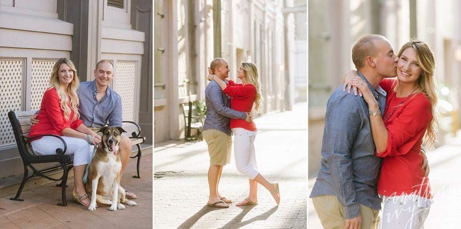 The Strand Engagement Photos Galveston