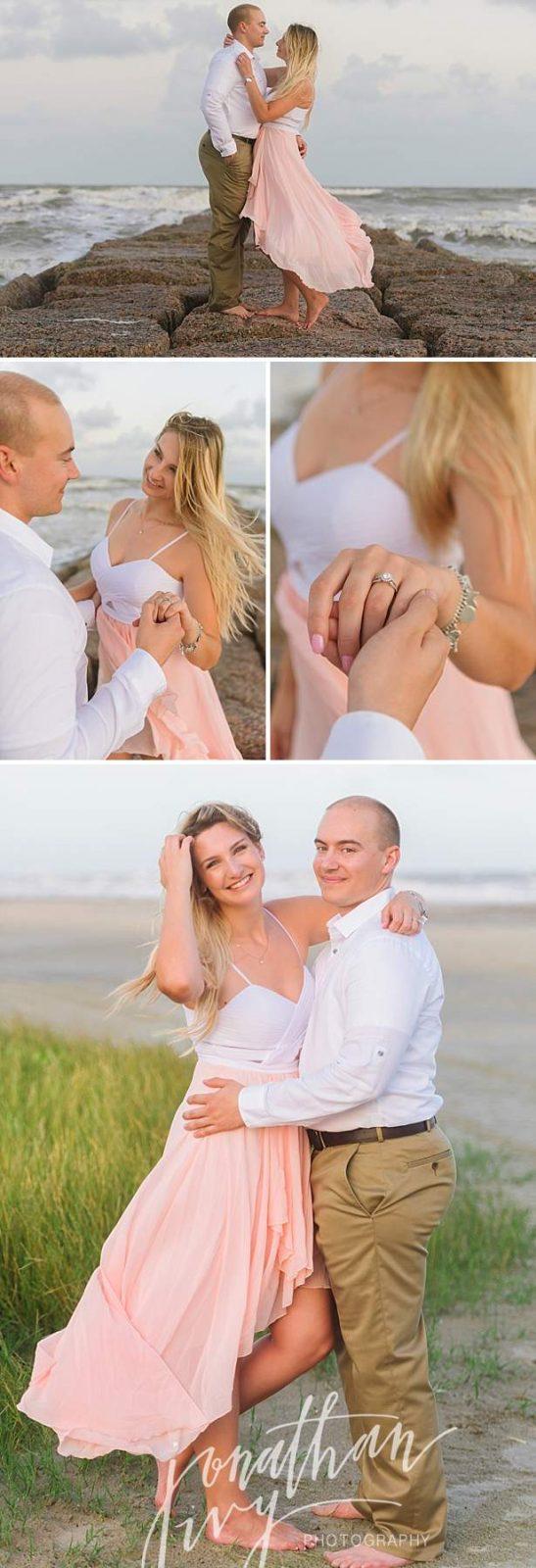 Romantic Beach Engagement Photos Galveston