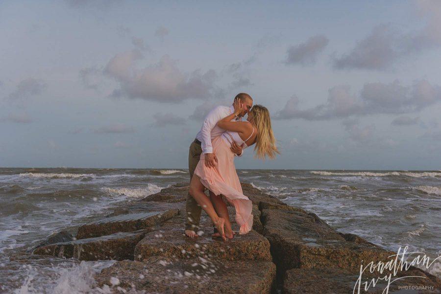 Galveston Jetty Engagement Photos