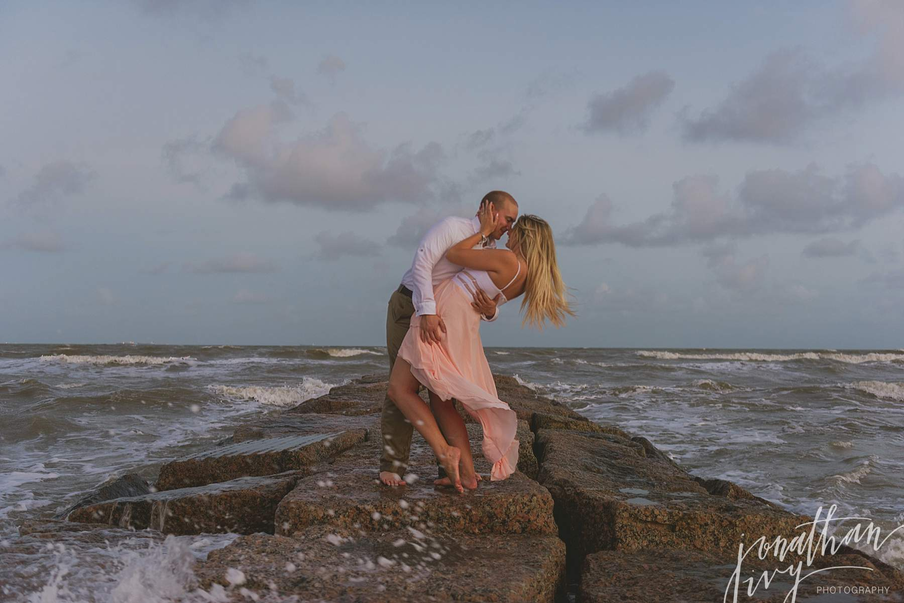 Galveston Jetty Engagement Photos