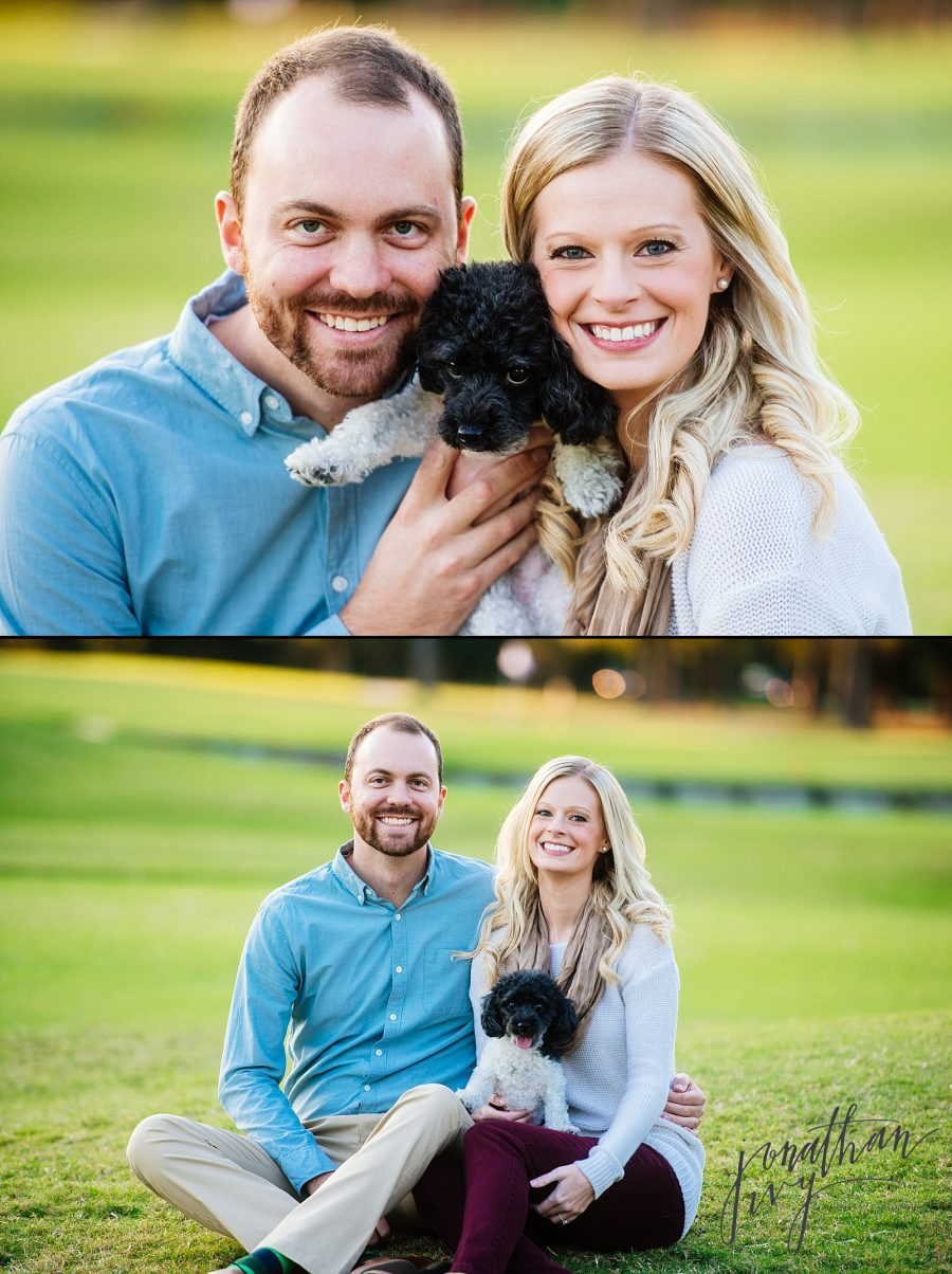 Engagement photos with dogs