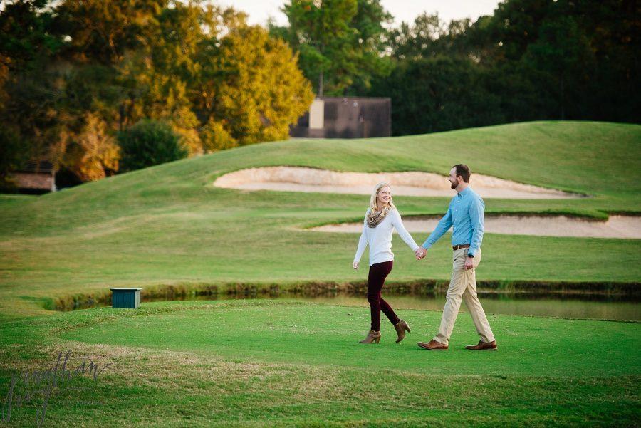 Golf Course Engagement Photos
