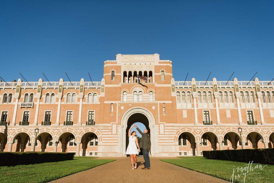 Rice University Engagement Photos
