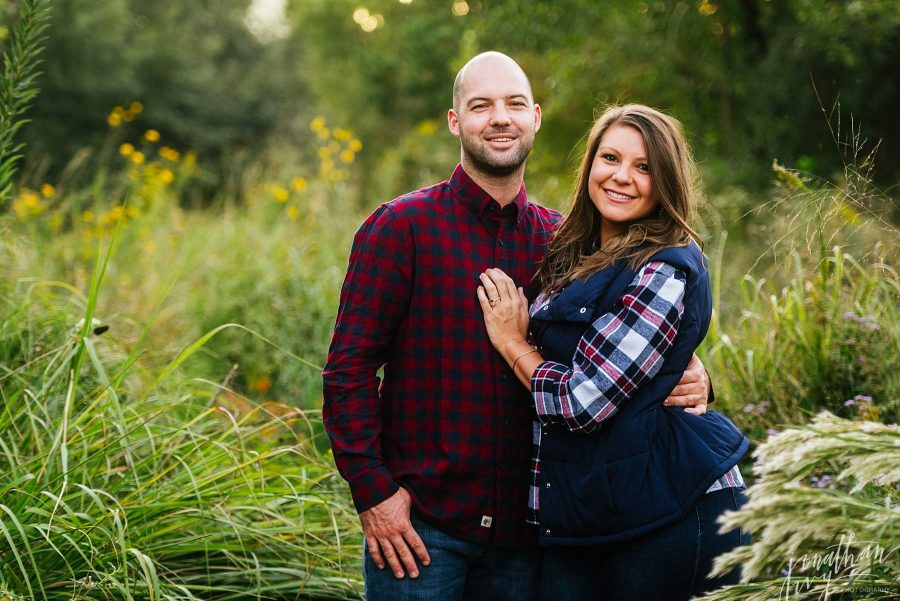 Plaid Engagement Photo Outfits