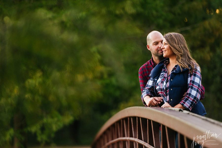 Fall Plaid Engagement Photo Outfits