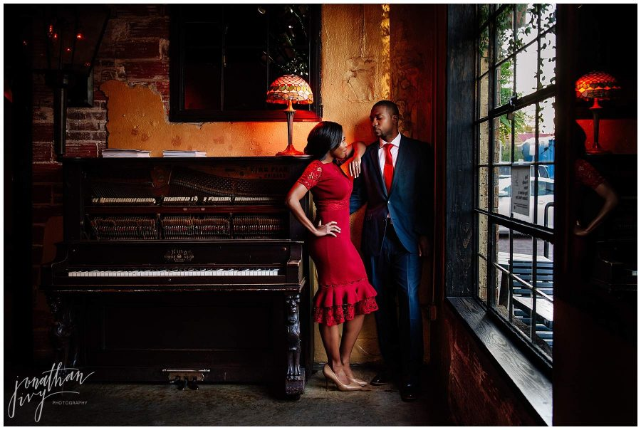 Bar Boheme Engagement Photo Shoot