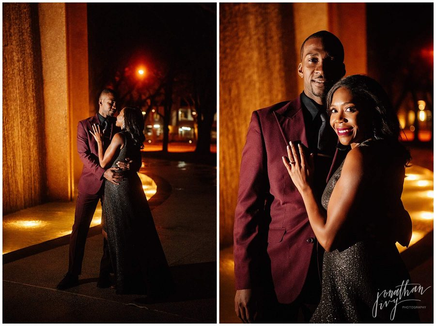 Houston Waterwall engagement photos