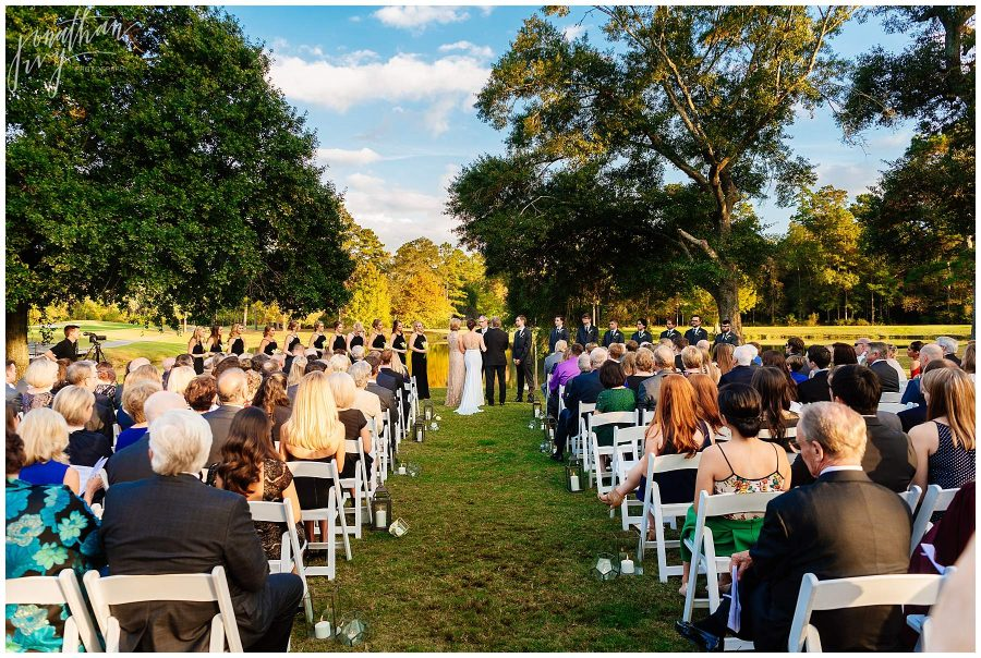 The Woodlands Country Club outdoor ceremony