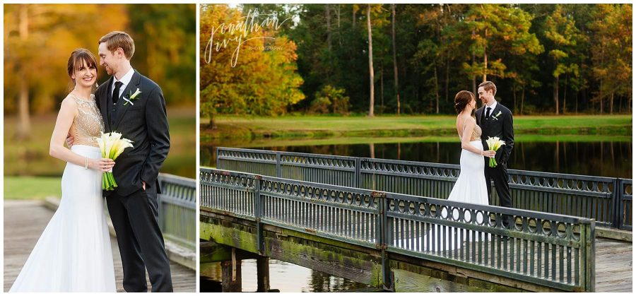 newlyweds at The Woodlands Country Club Wedding