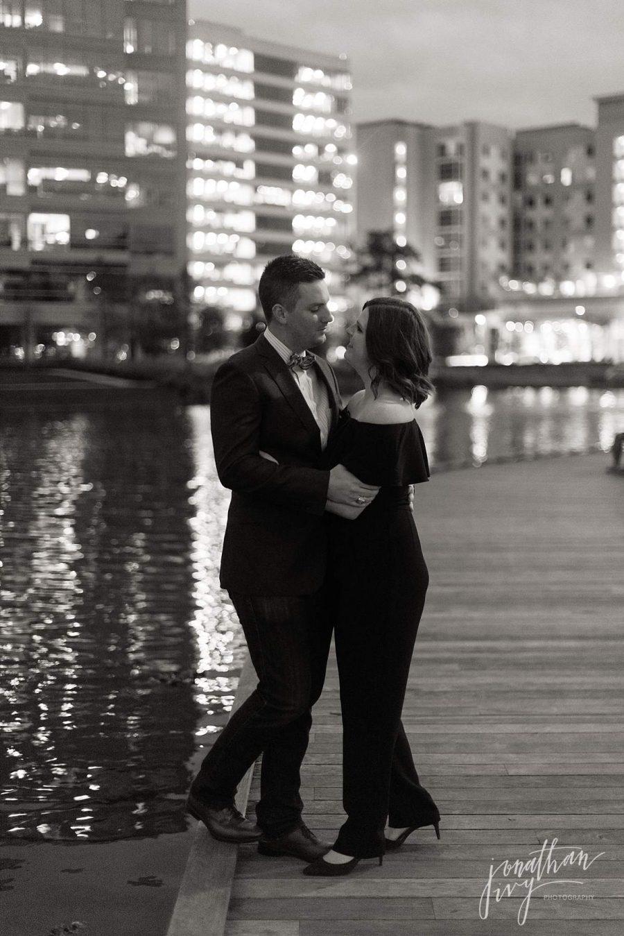 Night Engagement Photos SATX