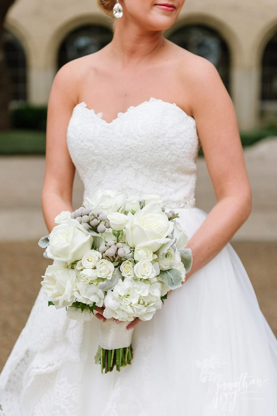 White Gray Soft Pastel Bridal Bouquet
