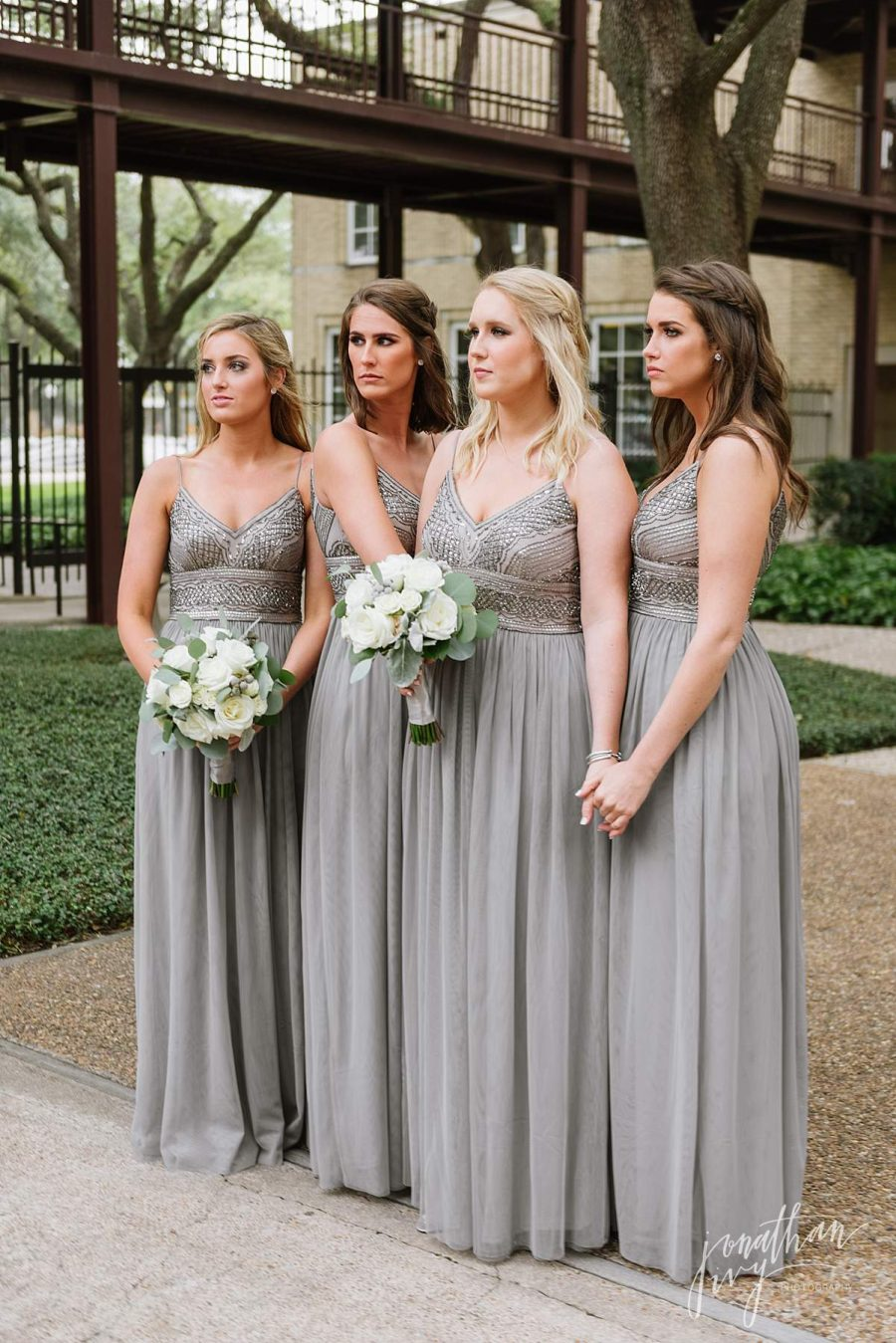 Great Gatsby Art Deco Gray Bridesmaid Dresses