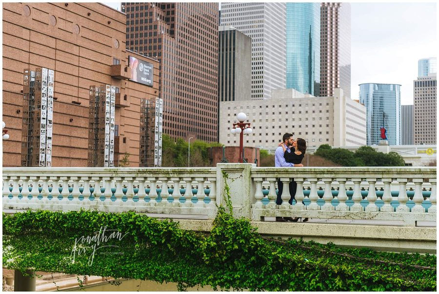 Houston Downtown Engagement Photos