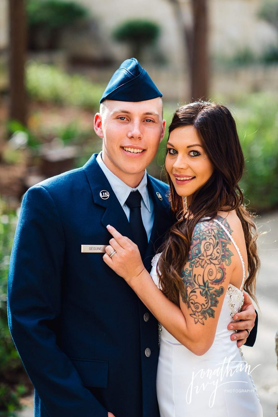 Military Elopement Wedding