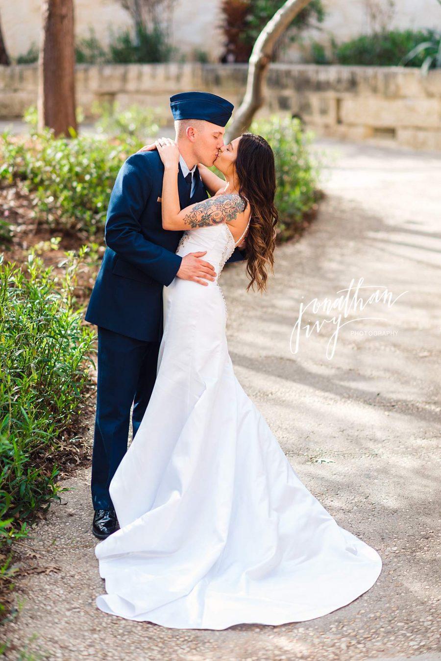 Air force Elopement Wedding Photographer