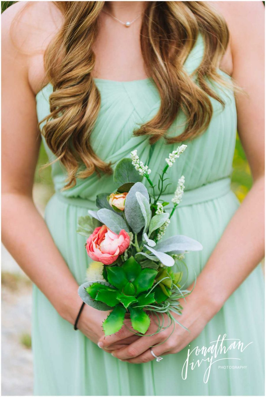Soft Mint Green Bridesmaid Bouquet