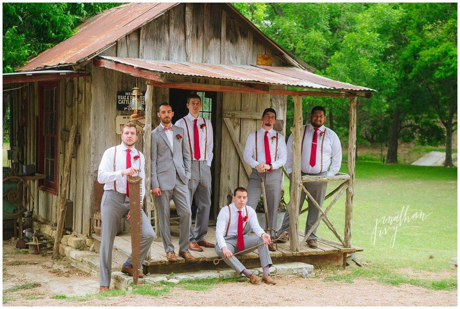 Don Strange Ranch groom and groomsmen photos